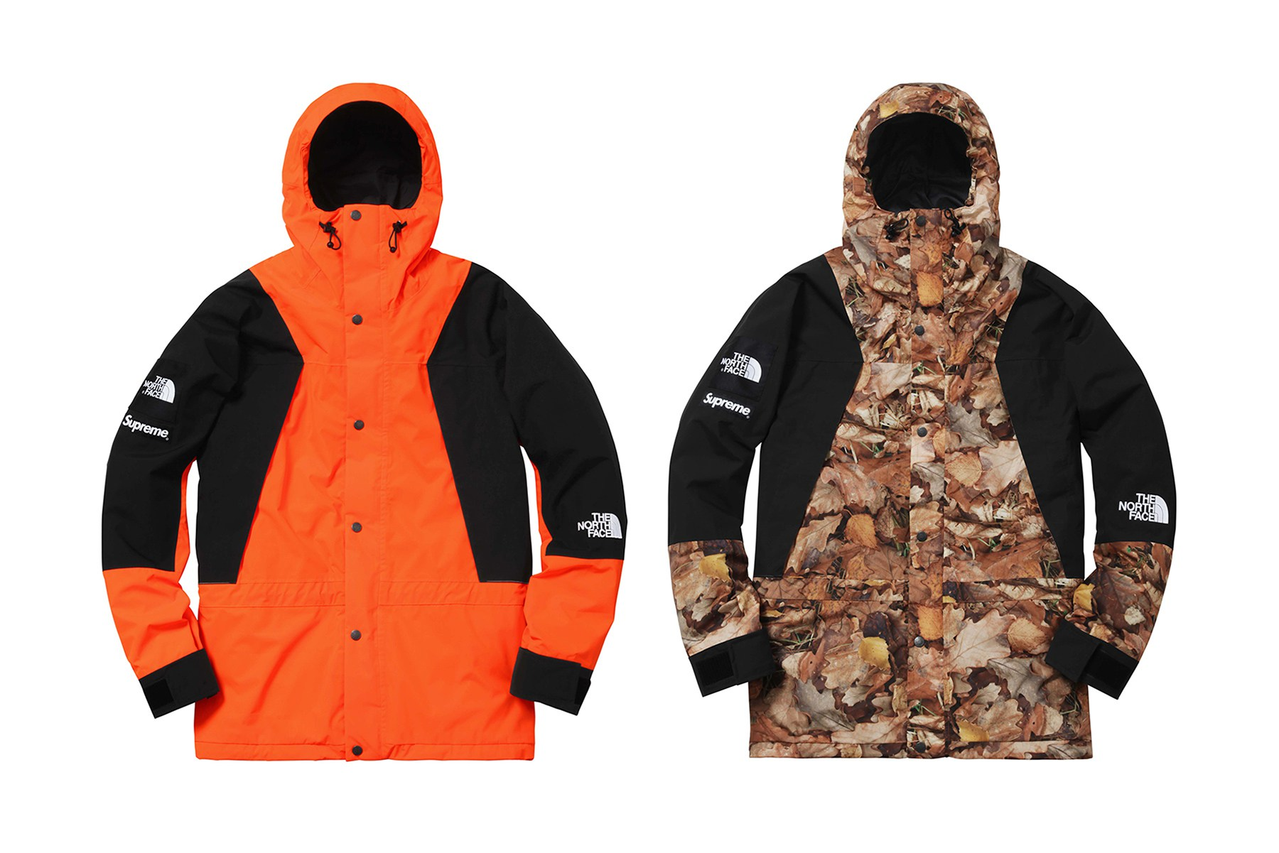 abrigo north face supreme